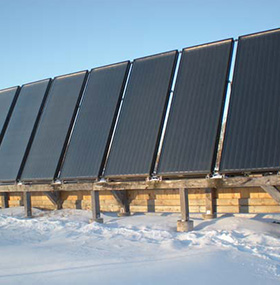 Strawbale Farms Active Solar Panels