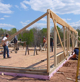 Strawbale Farms Framework And Walls Build